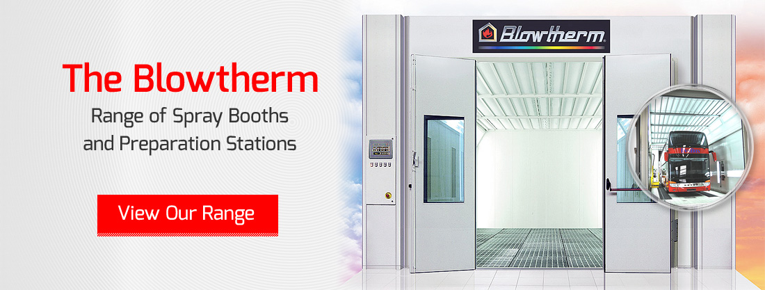 The Range of Blowtherm Spray Booths and Preparation Stations